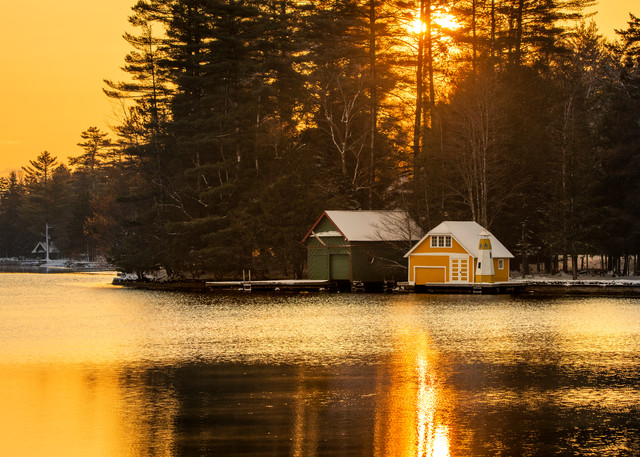 Old Forge Pond Yellow Sunrise Photography Art | Kurt Gardner Photogarphy Gallery