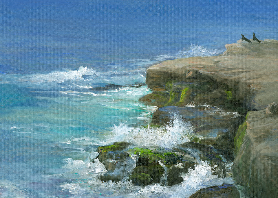 Sea Lions At La Jolla Cove, Ca Art | Tarryl Fine Art