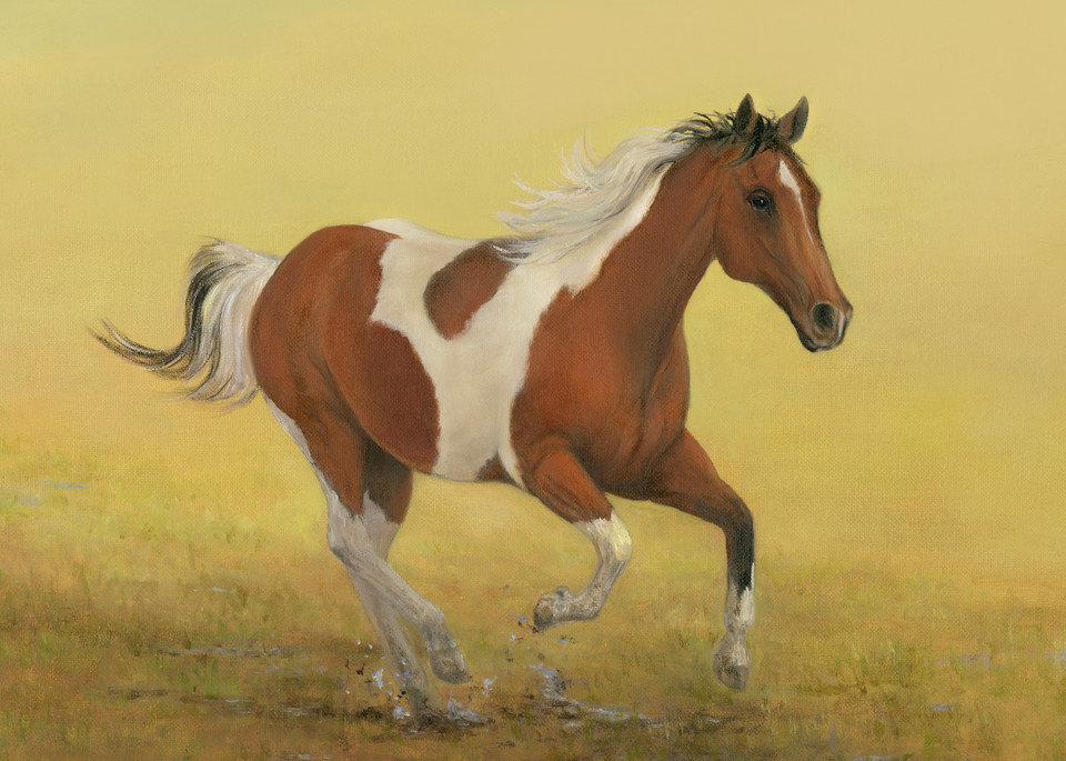 horse, horse-painting, horse-running