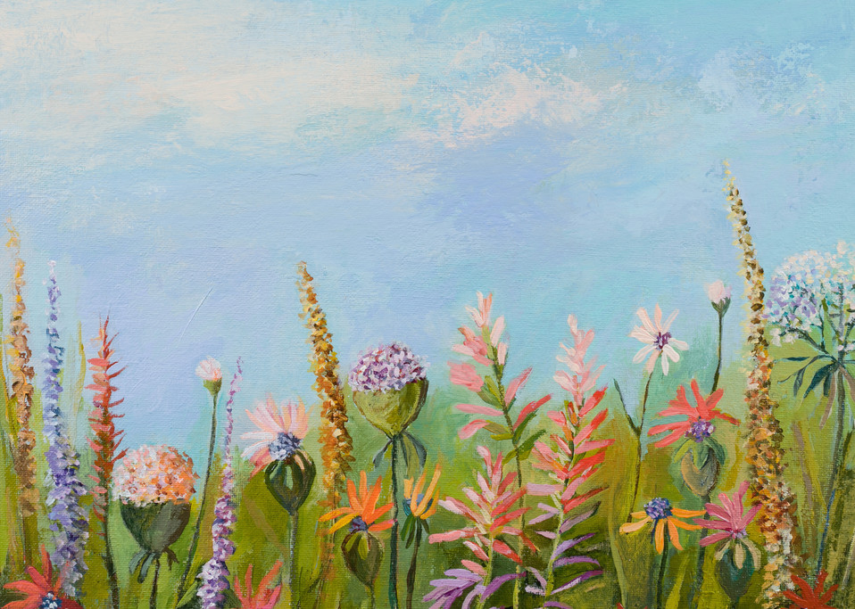 Wildflower Garden Canvas Wall Art