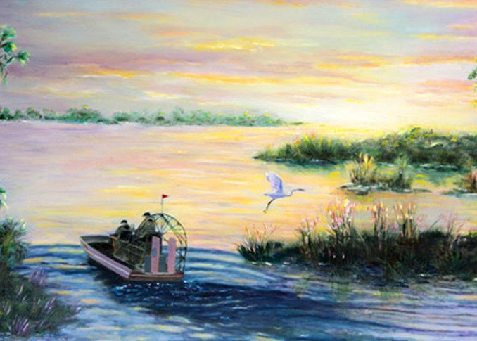 Camp Holly Sunset, From an Original Oil Painting