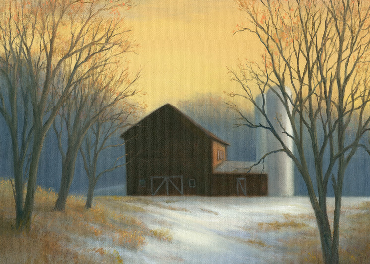 red-barn, barn-painting, winter-scene, great-hollow,