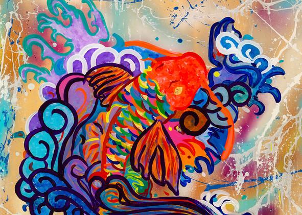 """Koi Dance"" Art   JD Shultz Art"