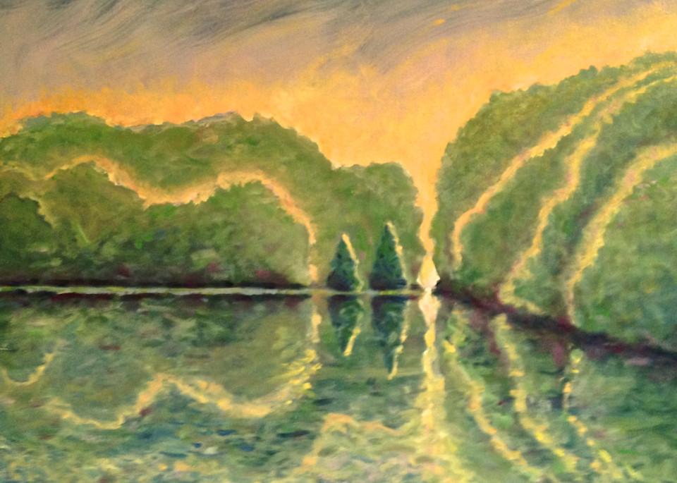 Missouri River Glow Art | Wild Ponies creations