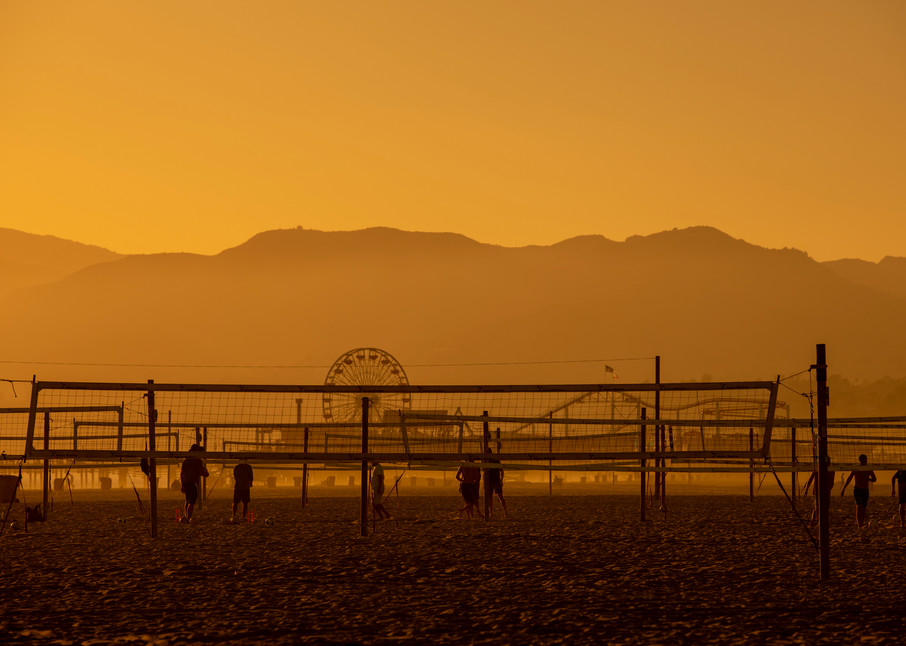 Mountains Pier Volleyball Photography Art | Michael Scott Adams Photography