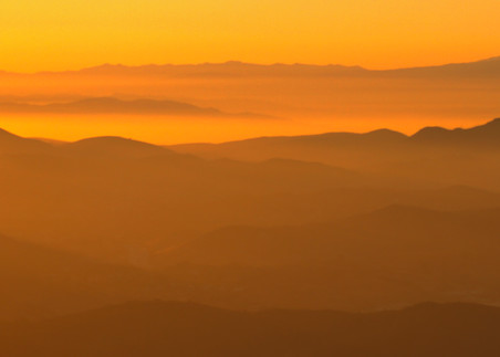 Canyon Sunset Silhouette Photography Art | Michael Scott Adams Photography