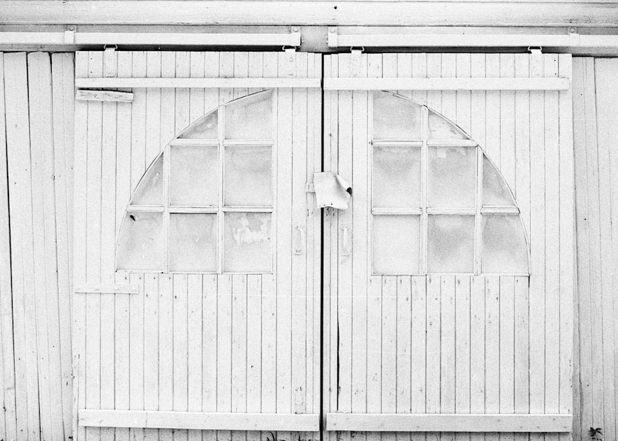 White Garage Doors Art | Wild Ponies creations