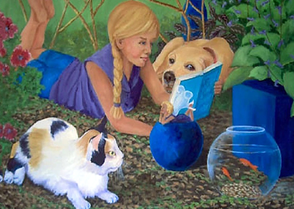 Story Time, From an Original Oil Painting