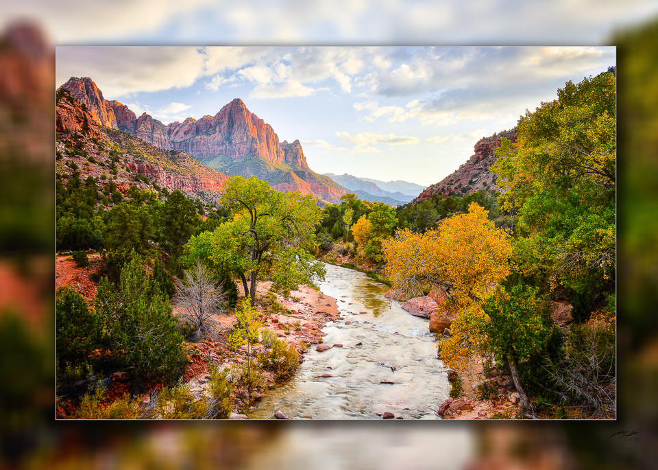 Zion   Watchman H 3 D Photography Art   Whispering Impressions