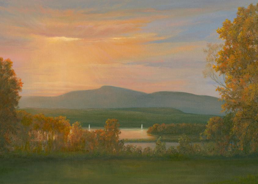 *Sunset Over The Hudson From Bard College Art | Tarryl Fine Art