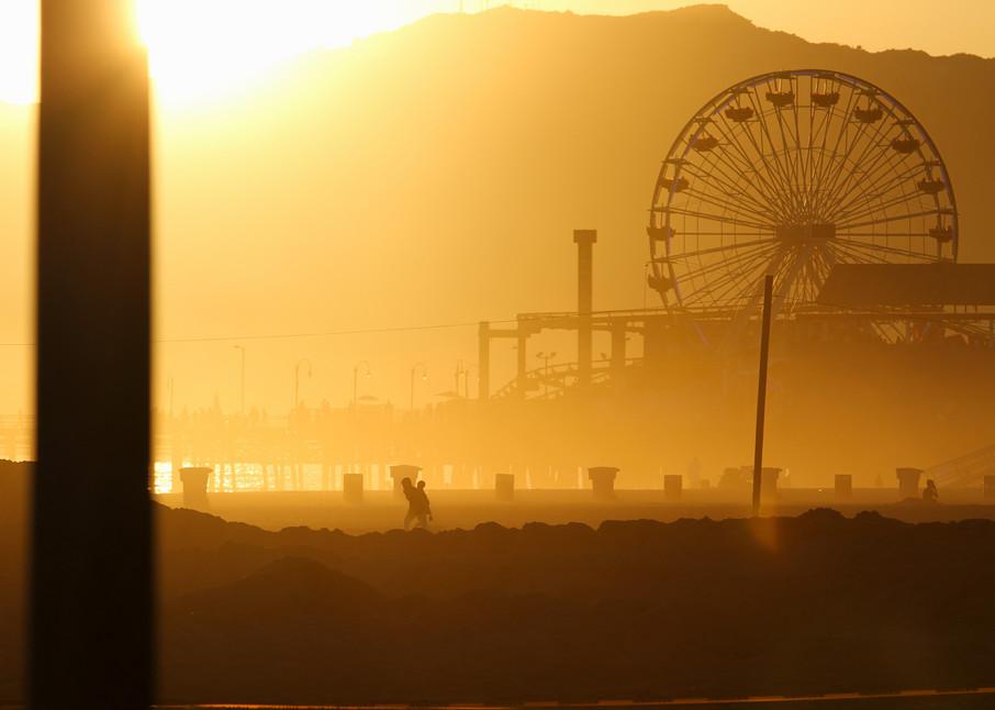 Santa Monica Pier Silhouette Photography Art | Michael Scott Adams Photography