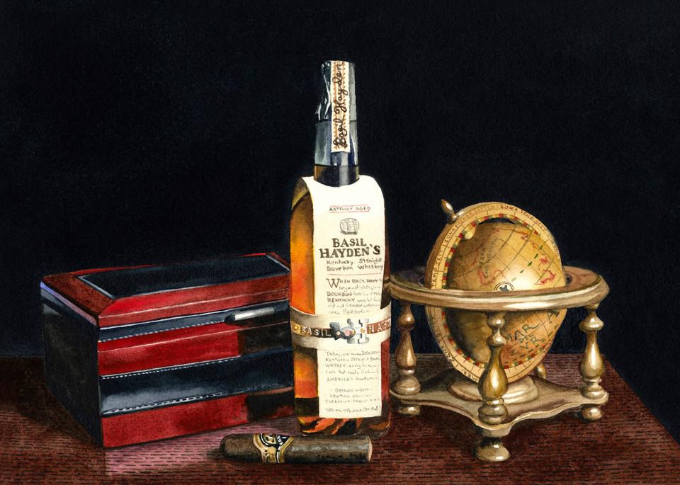 Basil Hayden Art | Gary Curtis Watercolors