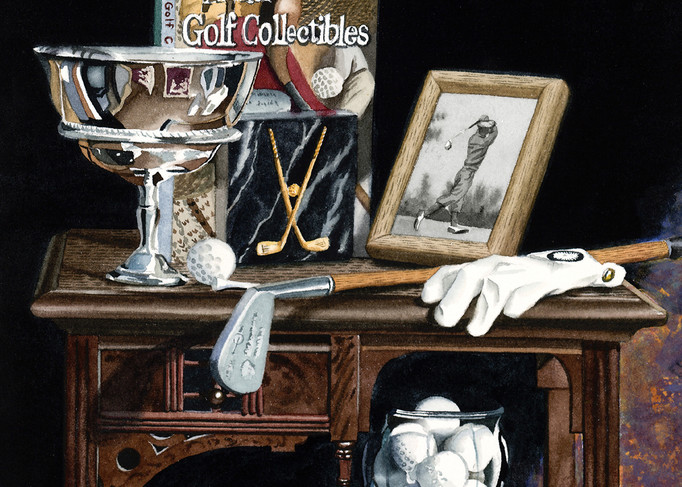 Antique Golf Collectibles Art | Gary Curtis Watercolors