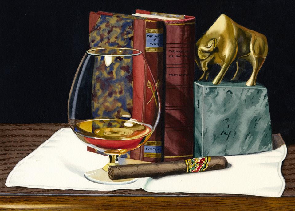 Bull Market Art   Gary Curtis Watercolors