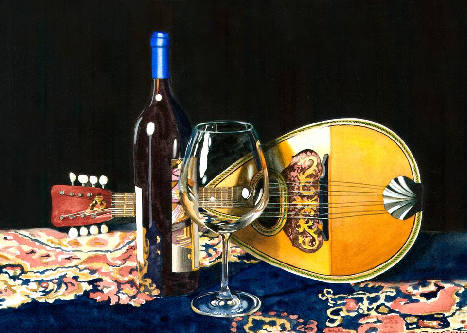 Mandolin Nights Art | Gary Curtis Watercolors