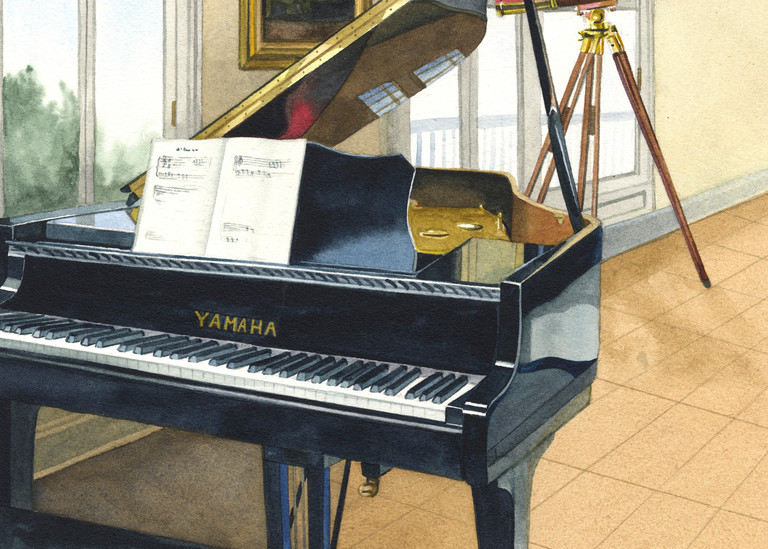Music Room Art | Gary Curtis Watercolors