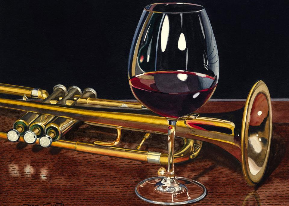 Trumpet Wine Art | Gary Curtis Watercolors