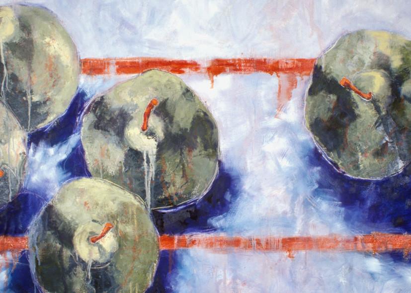 Blue Orange2 Art   Joan Cox Art