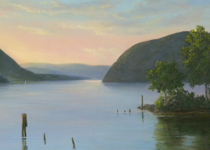 *Sunrise Over The Hudson From Plum Point, Ny Art | Tarryl Fine Art