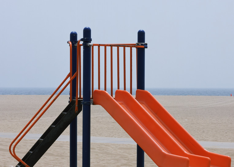 Orange Slide   Santa Monica Beach Photography Art | Julian Whatley Photography
