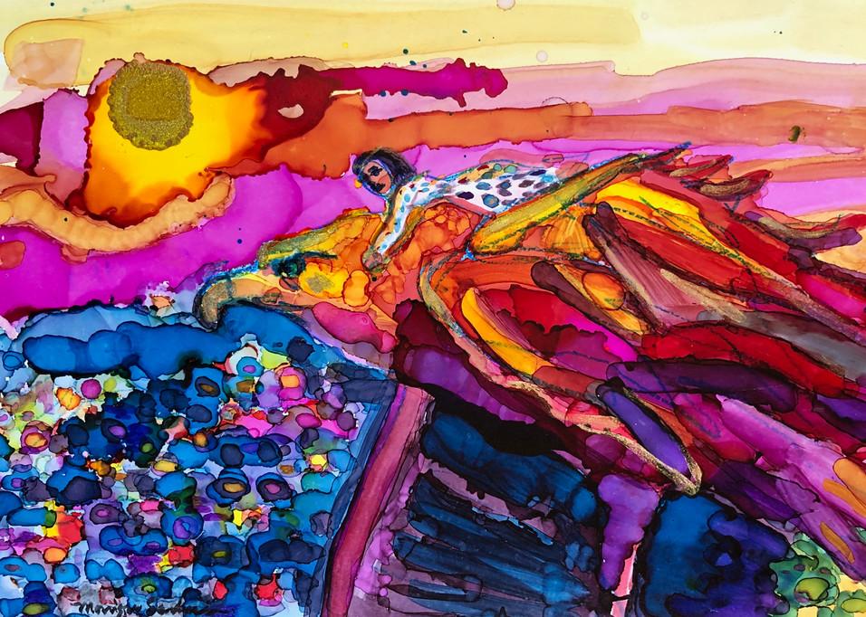 Prophetic art by Monique Sarkessian, high quality print of Eagle Flight 1.