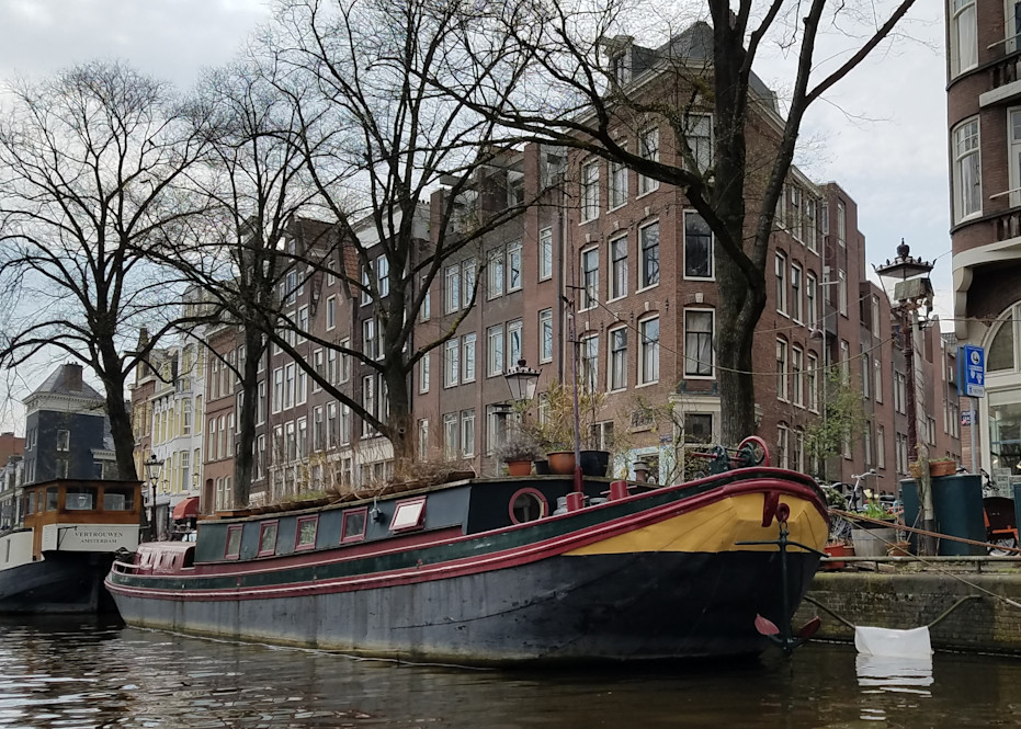 Amsterdam Canal Houses & Houseboats #2 Photography Art | Photoissimo - Fine Art Photography