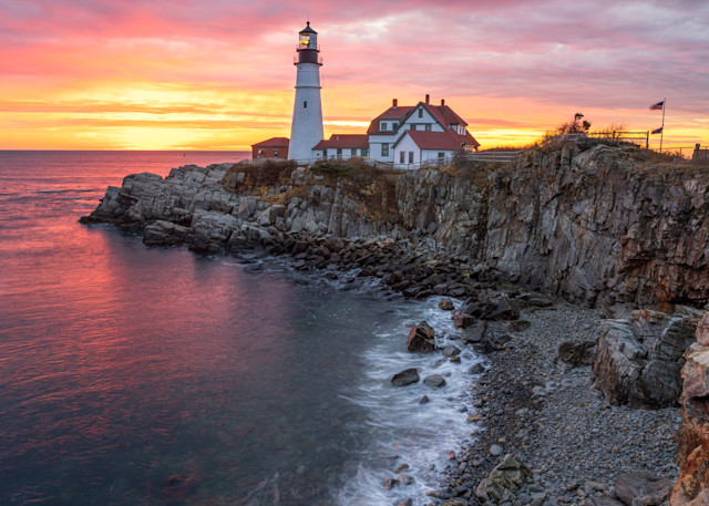 Golden Hour at Portland Head Light