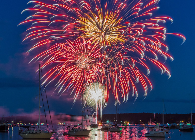 Boothbay Harbor Independence Day Ii Photography Art | Jesse MacDonald Photography