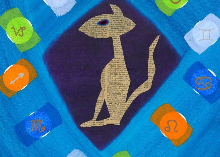 Horoscope Cat Art | Off The Edge Art