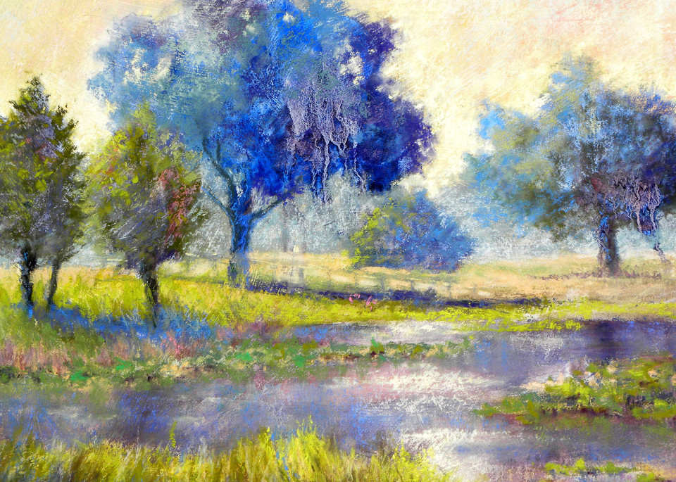 Blue on Blue, From an Original Oil Painting
