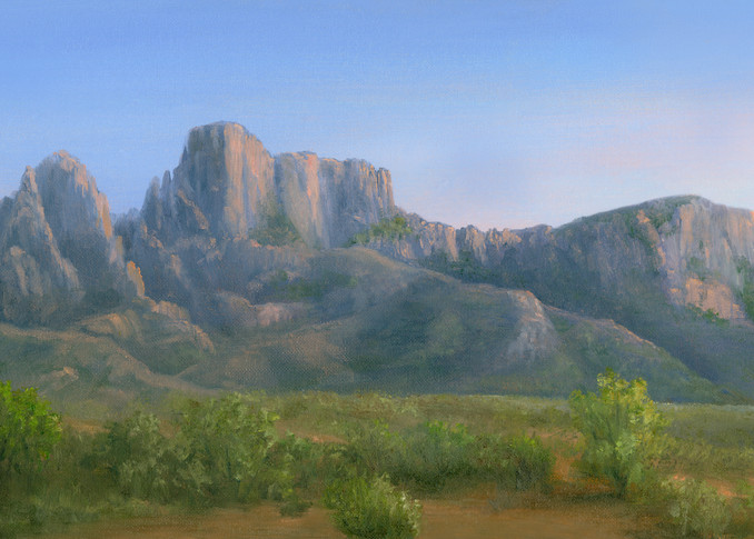 *Sun Setting Over The Catalina Mountains, Tuscon Az Art | Tarryl Fine Art
