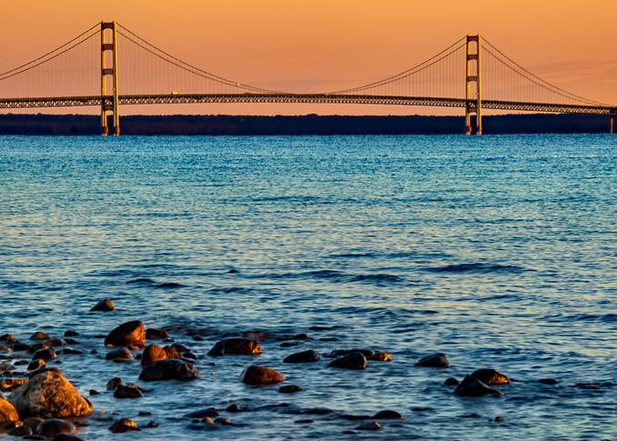 Mackinac Bridge Pano Photography Art | Whispering Impressions