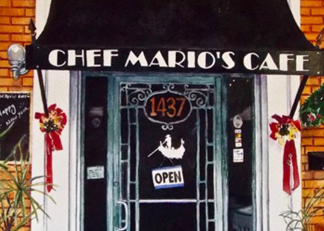 Chef Mario's Cafe Print, From an Original Watercolor Painting