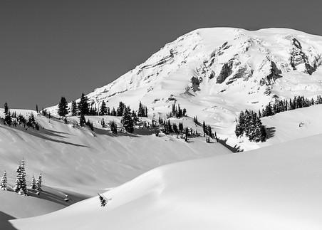 Shadows in the Snow, Paradise, Mount Rainier, Washington, 2017