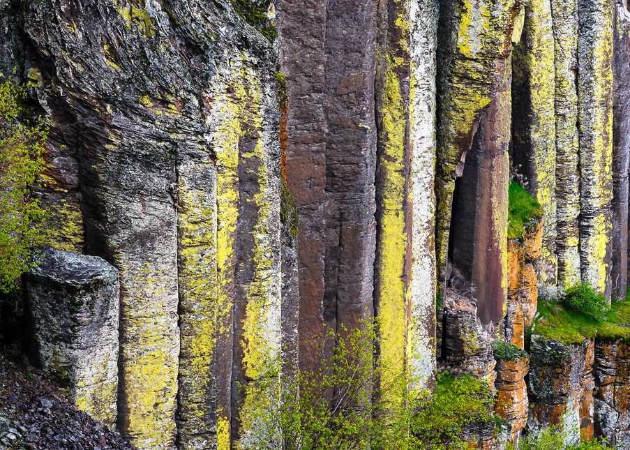 Columnar Basalt, Potholes Coulee, Washington, 2017