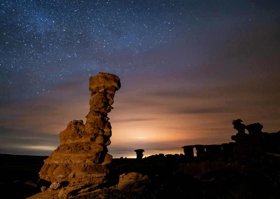 Apocalyptic Night Sky Over Hoo Doo, Recapture Pocket Photography Art | John Gregor Photography