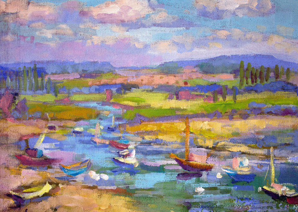 French Landscape Art Print Painting, Le Port St Jean by Dorothy Fagan