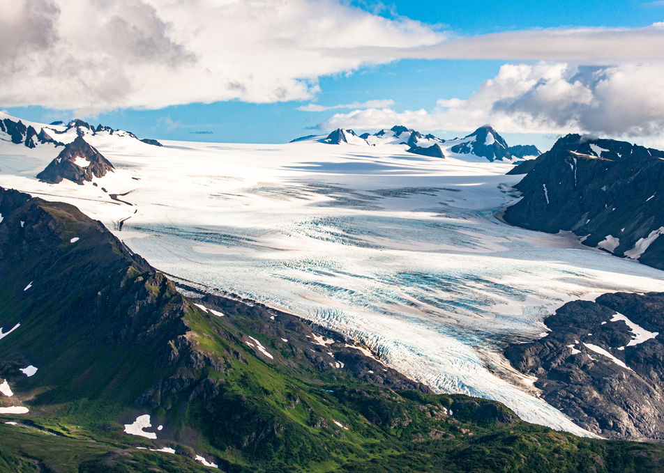 Caldera Grewingk Glacier Aerial Photography Art | Hatch Photo Artistry LLC