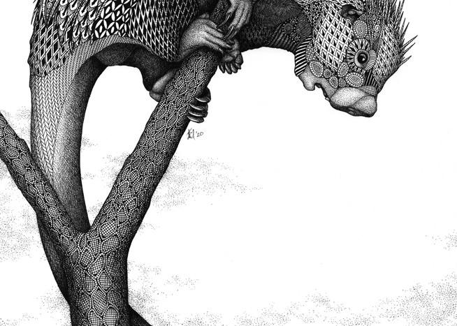 "Can I Order Curbside? (Brazilian Porcupine) Art | Kristin Moger ""Seriously Fun Art"""