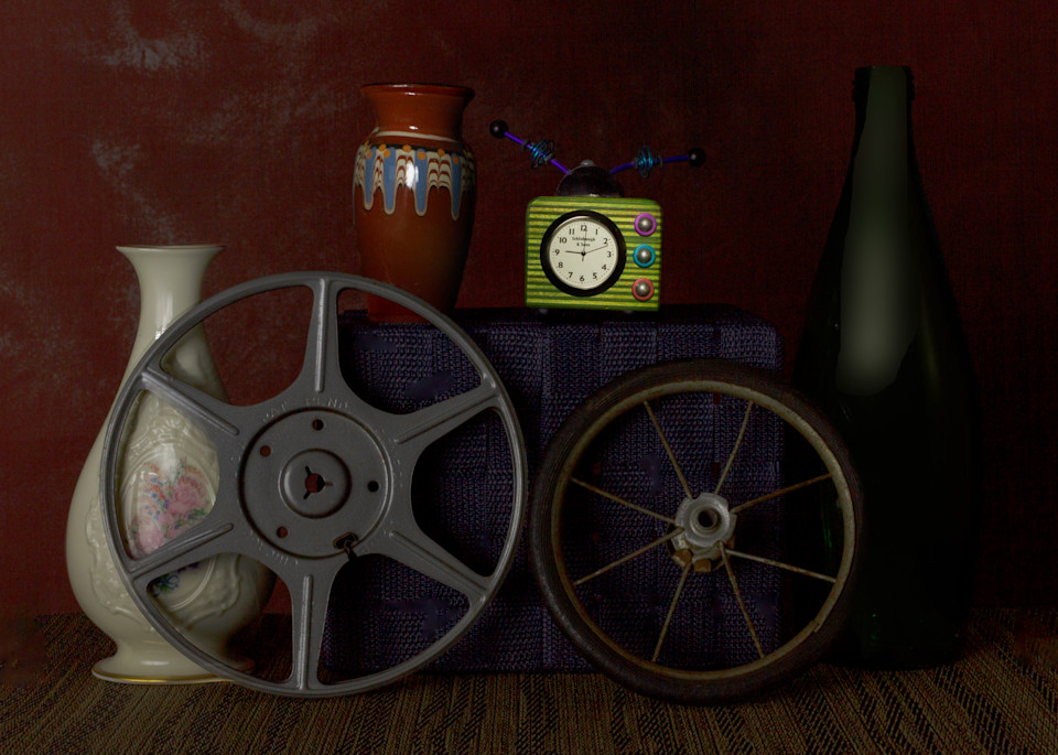A Fine Art Photograph of Old Film Reels by Michael Pucciarelli
