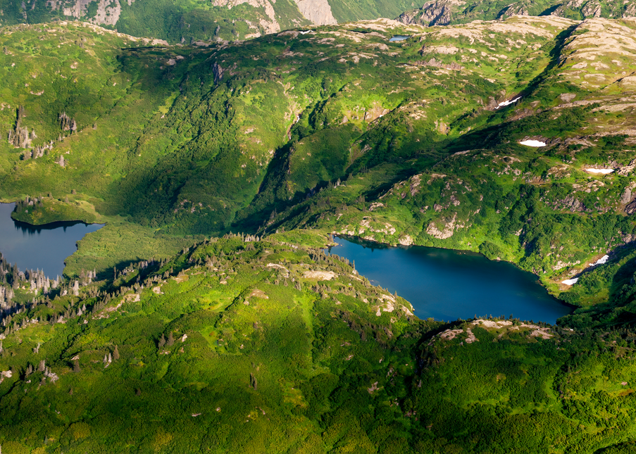 Glacial Exit Lakes Alaska Aerial Photography Art | Hatch Photo Artistry LLC