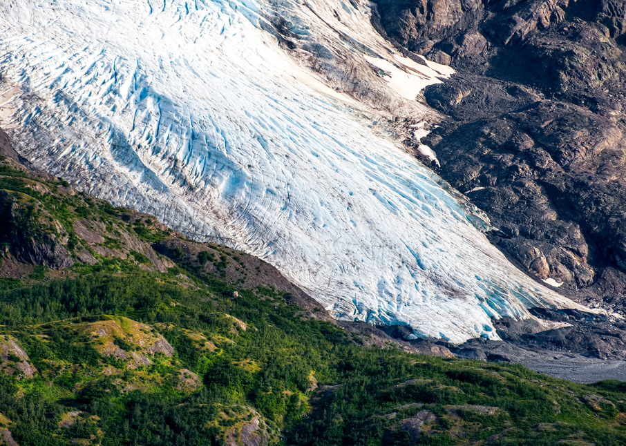 Portlock Glacier Terminus Aerial Photography Art | Hatch Photo Artistry LLC
