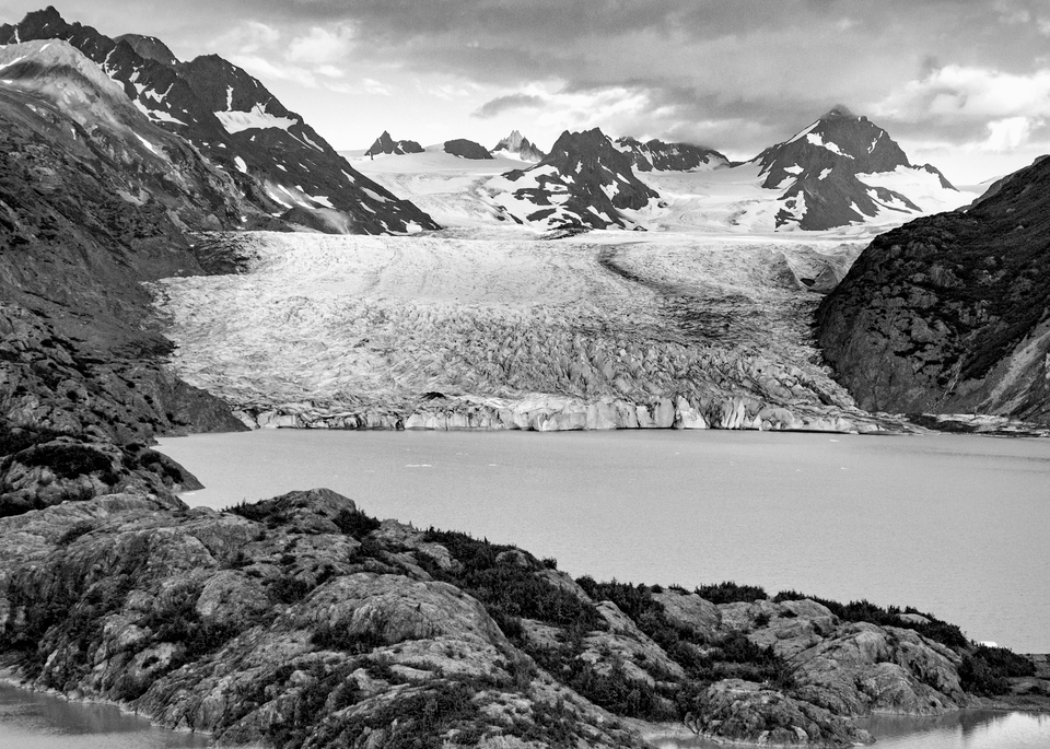 Grewingk Glacier Terminus Bw Photography Art | Hatch Photo Artistry LLC