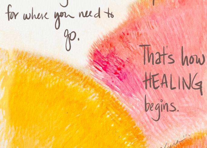 How healing begins - spontaneous watercolor piece