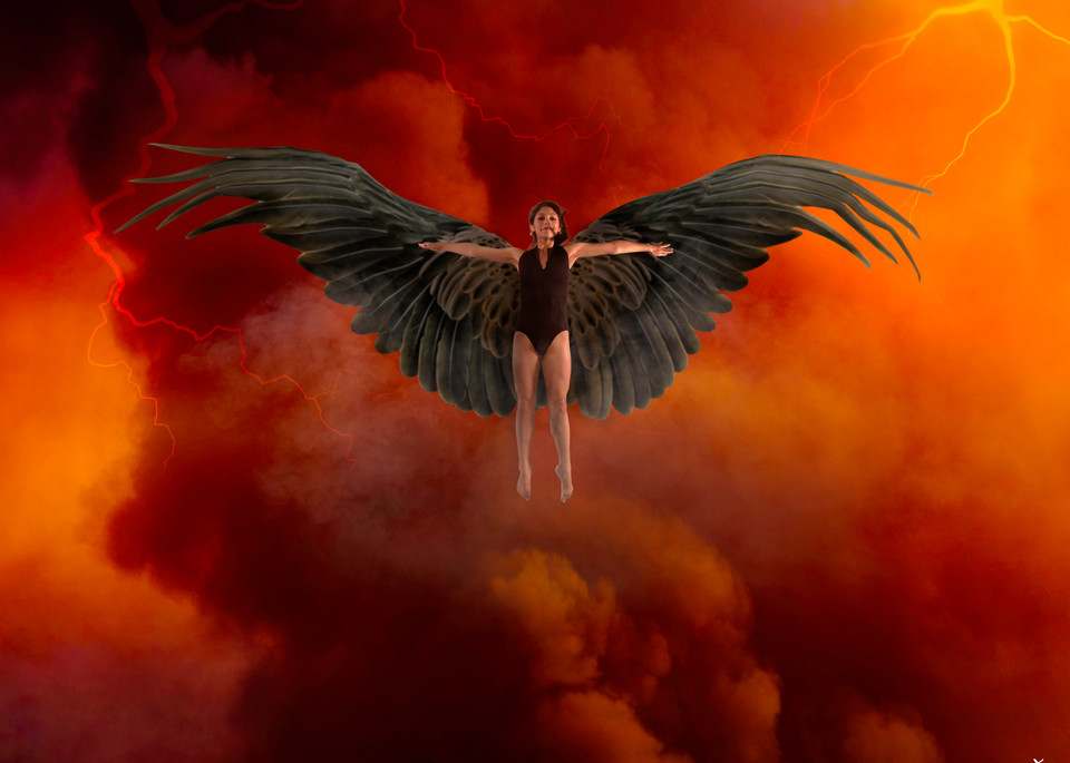 Winged Dancer in Storm