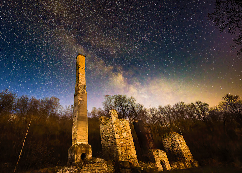 Lime Kiln Ruins and the Milky Way No.1