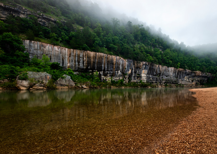 Foggy Buffalo River - Ozark Mountains fine-art photography prints