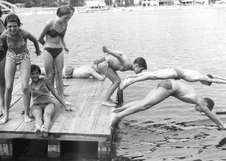 French Teen Swimmers On A Dock Art | i Art Collector