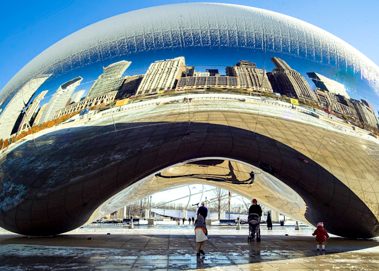 Chicago Bean In Winter Photography Art | Hatch Photo Artistry LLC