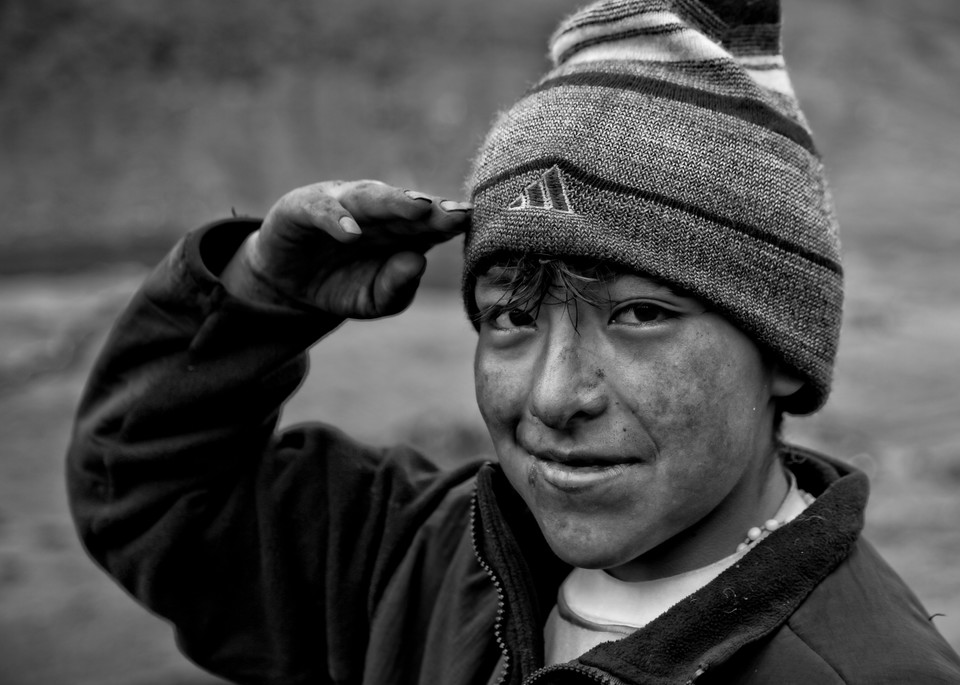 A smiling boy in Peru